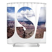 Word Usa Grand Canyon National Park, Arizona  Shower Curtain