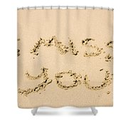 Words Of Loss Shower Curtain