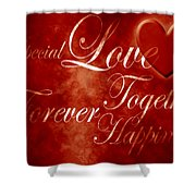 Words Of Love Shower Curtain