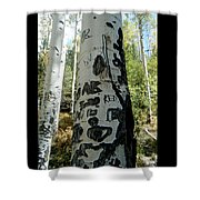 Words Written In The Trees 1 Shower Curtain