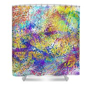Work 00101 Abstraction Shower Curtain