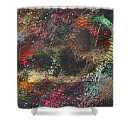 Work 00101 Abstraction Variant 2 Shower Curtain