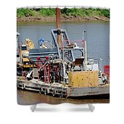 Work Barge Shower Curtain