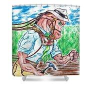 Work Horse  Shower Curtain