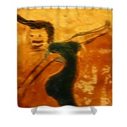 Work It - Tile Shower Curtain