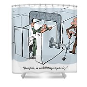 Work Pressure. Shower Curtain