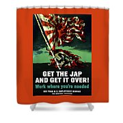Work Where You're Needed -- Ww2 Shower Curtain