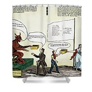 Workie Cartoon, 1829 Shower Curtain