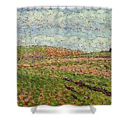 Working At Eragny 1886 Camille Pissarro Shower Curtain