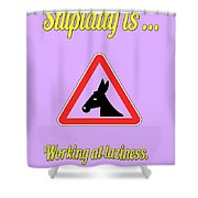 Working Bigstock Donkey 171252860 Shower Curtain