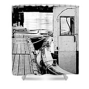Working Boat Shower Curtain