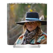 Working Cowgirl Shower Curtain