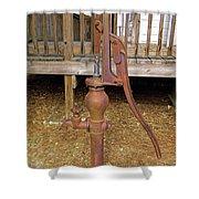 Working Hand Pump Shower Curtain