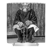 Working Hands Bw Shower Curtain