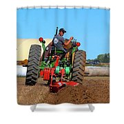Working His Plow  Shower Curtain