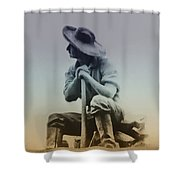 Working Man Shower Curtain