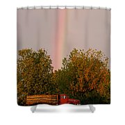 Working Rainbow Shower Curtain