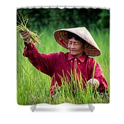 Working The Fields, Thailand Shower Curtain
