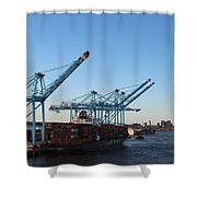 Working The Port Of New Orleans Shower Curtain
