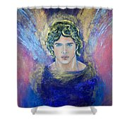 Working With Archangels Shower Curtain