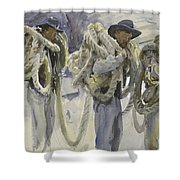 Workmen At Carrara Shower Curtain