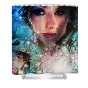 World Acording To Sellah Wildfury Shower Curtain