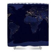 World City Lights Shower Curtain