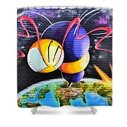 World Color Bee Shower Curtain