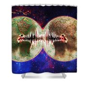 World Communications Shower Curtain