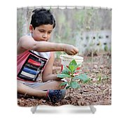 World Environment Day Shower Curtain