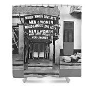 World Famous Love Acts French Quarter New Orleans Louisiana 1976-2012 Shower Curtain