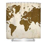 World Grunge Shower Curtain