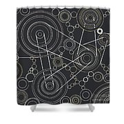 World In Motion Shower Curtain