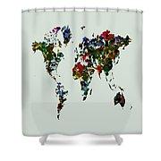 World Map 12b Shower Curtain