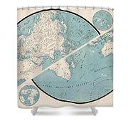 World Map - 1857 Shower Curtain