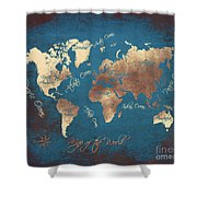 World Map 2065 Shower Curtain
