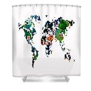 World Map 8b Shower Curtain