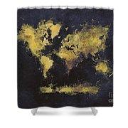 World Map Art 65 Shower Curtain