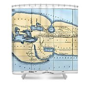 World Map: Eratosthenes Shower Curtain
