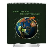 World Needs Tree Shower Curtain
