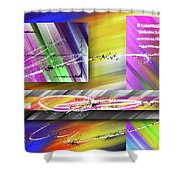 World Of Color And Superimposed Rectangles Shower Curtain