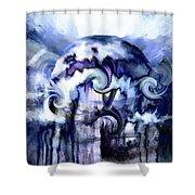 World Of Ice Shower Curtain