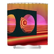 World Of The Dragonfly Shower Curtain