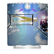 World On A String Shower Curtain