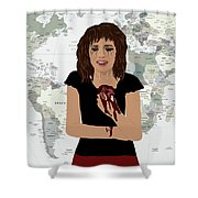 World Pain Shower Curtain