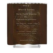World Series 1913 Shower Curtain