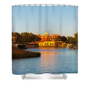 World Showcase Lagoon Before The Show Walt Disney World Shower Curtain