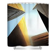 World Trade Center Towers And The Ideogram 1971-2001 Shower Curtain