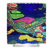 World Turle Knight Of Swords Shower Curtain
