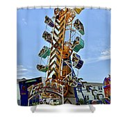 World Upside Down Shower Curtain